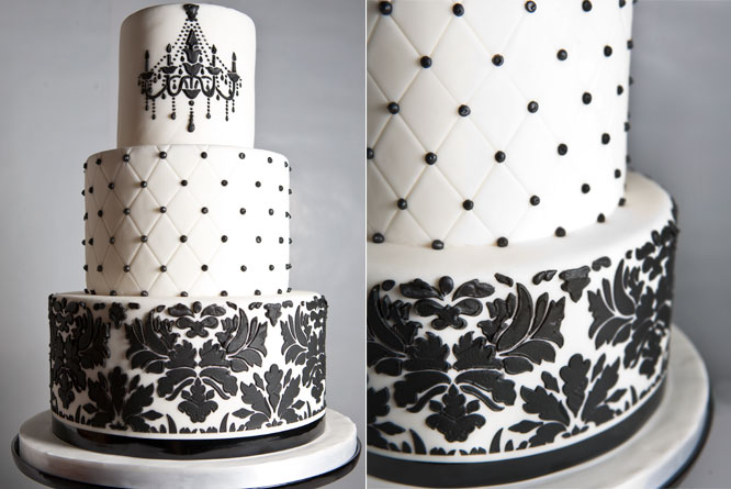 Fancy pants wedding cake